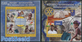 Rotary aid at innondations 2 s/s