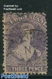 3P dull purple, WM1, used