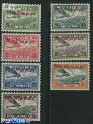 Airmail overprints 7v