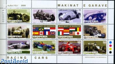 Racing cars 10v m/s