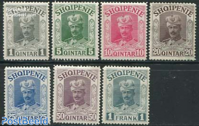 Wilhelm von Wied 7v. This set was never issued due to his forced exile from Albania