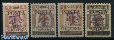 Postage Due 4v, Overprints on Austrian Stamps