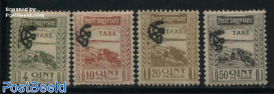 Postage due 4v, with control stamp