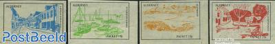 Alderney Parcel delivery stamps, Views 4v