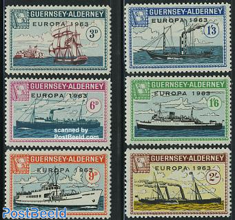 Commodore parcel stamps, Europa 6v