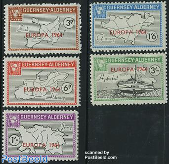Commodore parcel stamps, EUROPA 5v