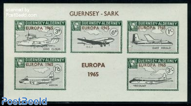 Commodore parcel stamps, Europa, planes s/s