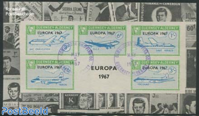Commodore parcel stamps, Europa, Kennedy s/s