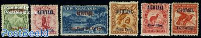 Overprints on New Zealand stamps 6v