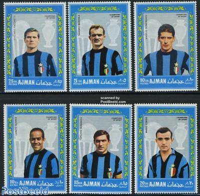 Football, inter Milan players 6v