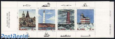Lighthouses 4v in booklet
