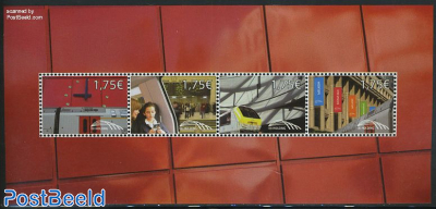 Railway stamps, Brussels central station s/s