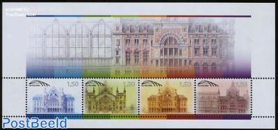 Antwerp Railway station 4v m/s (railway stamps)