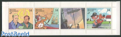 Youth philately, comics 4v in booklet