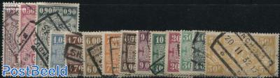 Railway stamps 14v