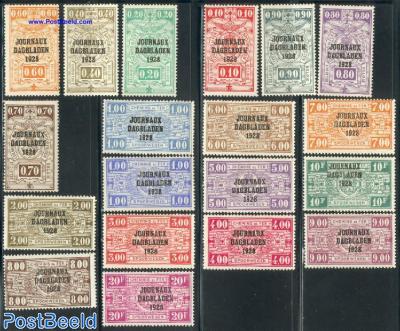 Newspaper stamps 19v