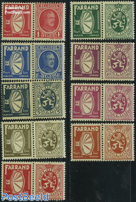 Definitives with tabs, Farrand 9v