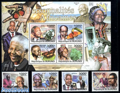 African personalities 4v + s/s