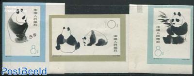 Panda bears 3v imperforated