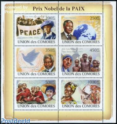 Nobel Prize for Peace 6v m/s