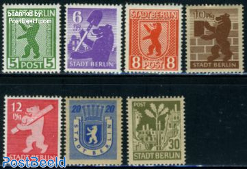 Stadt Berlin, Definitives 7v