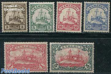 Kamerun, ships 6v