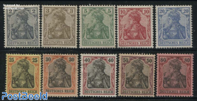 Definitives Germania without WM 10v