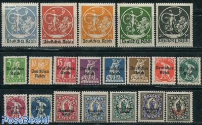 Overprint on Bavaria stamps 20v