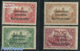 Marienwerder, Overprints 4v