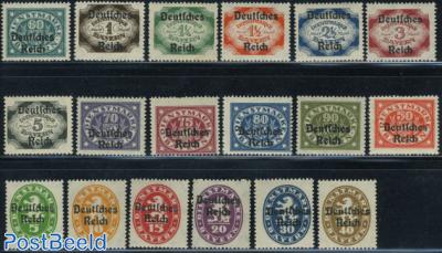 On service, overprints on Bavaria stamps 18v