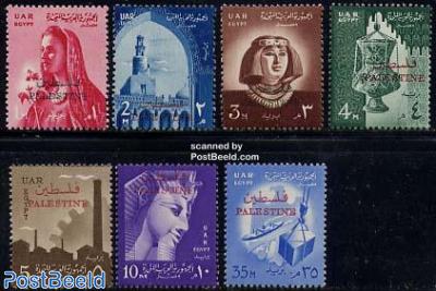 Palestina overprints 7v