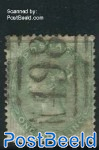 1Sh, Yellowgreen, Queen Victoria