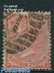 4p Brownred, Queen Victoria