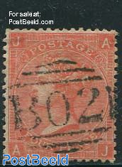 4p Orangered, Queen Victoria