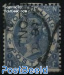 2Sh Blue, Queen Victoria