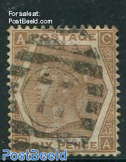 6p Orangebrown, Queen Victoria