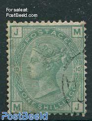 1Sh Green, Queen Victoria