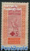 Haut-Senegal-Niger, Red Cross 1v