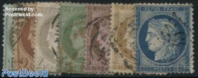 Definitives, Ceres, small numbers on 10,15,25c, 7v