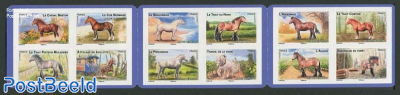 Horses 12v s-a in booklet