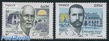 Alexandre Yersin 2v, joint issue Vietnam