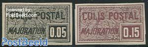 Colis Postal 2v, imperforated