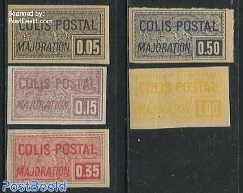 Colis Postal 5v, imperforated