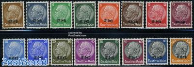 Elsass overprints 16v (German occupation)