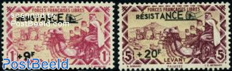 Levant post, Resistance 2v