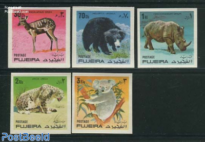 Animals 5v, imperforated