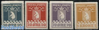 Parcel stamps, perf. 10.75 4v