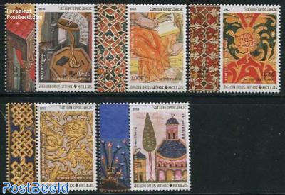 Mount Athos, Decoration on manuscripts 5v+tabs