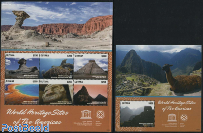 World Heritage Sites of The Americas 2 s/s