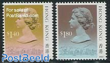Definitives 2v (with year 1990)